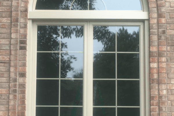 Double Casement Window with Half Round