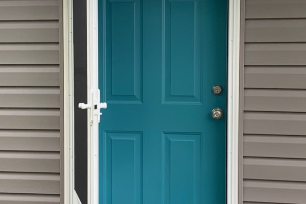 Beautiful Teal Entry Door