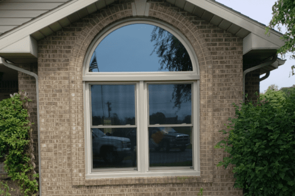 Set of Double Hung Windows with Half Round Above