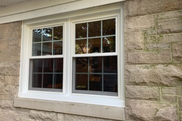 Set of Double Hung Windows with Grids