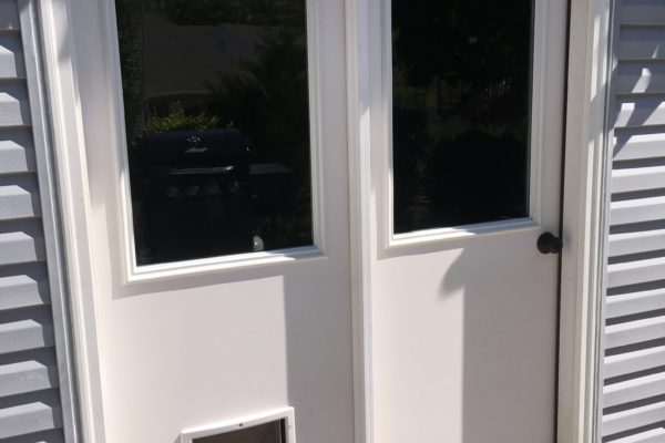 Therma-Tru Double Door with Doggie Door