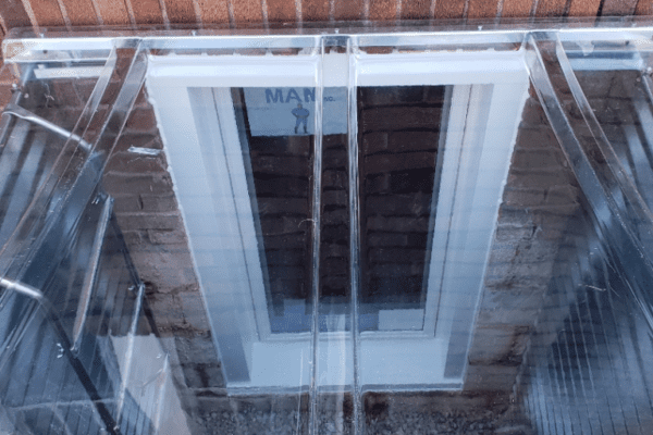 Egress Window with Well, Ladder and Lid