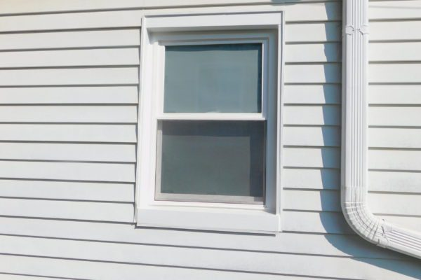 Double Hung Window With Exterior Aluminum Wrapping