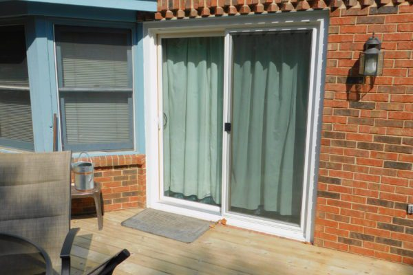 Double Paned Glass Patio Door