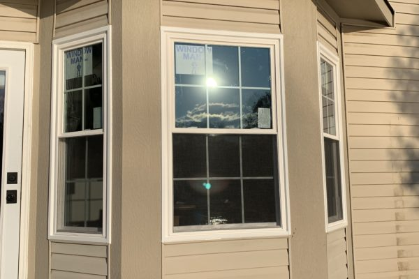 Double Hung Windows With Grids in Bump Out