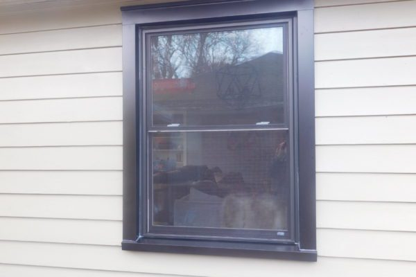 Black Exterior Paint on Double Hung Window